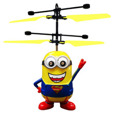 USB Rechargeable Hand Sensor Mini Flying Minions Toys For Kids