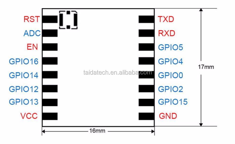 with IPEX external antenna support Airkiss protocol to serial TTL uart  nodemcu esp8266 wifi module, View esp8266 wifi module, Original Brand  Product