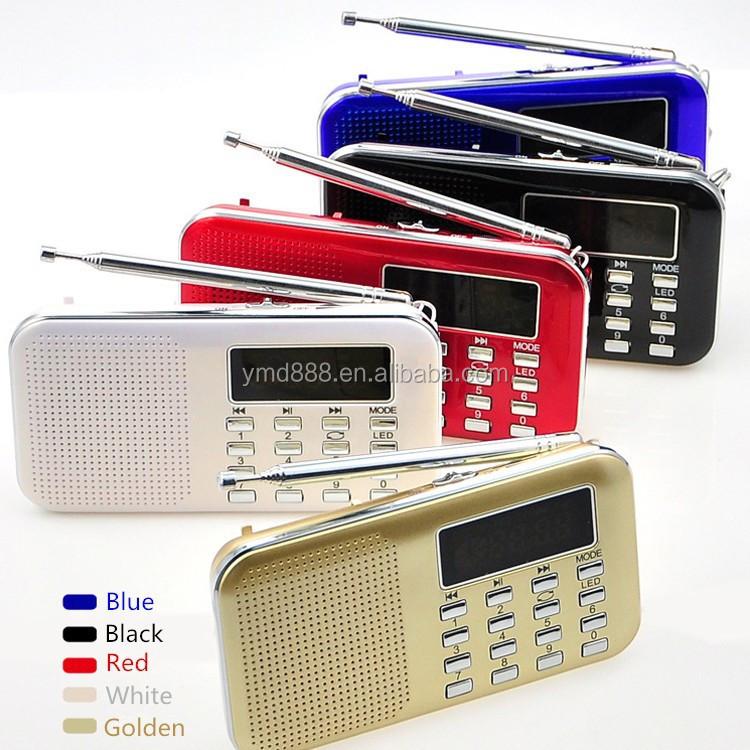 휴대용 usb 스피커 미니 포켓 라디오 디지털 fm 라디오 usb tf 카드