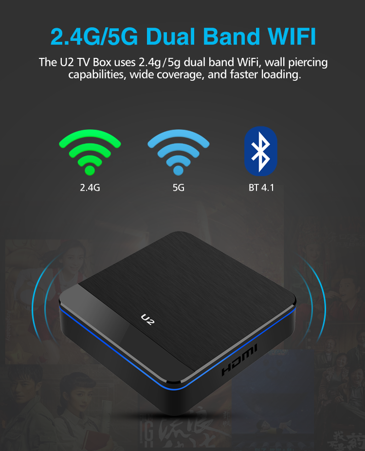 Junuo U2 S905X2 Android 9.1 Quad Core 4K Smart Android Tv Box