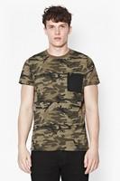 wholesale fashion military camo print t shirts
