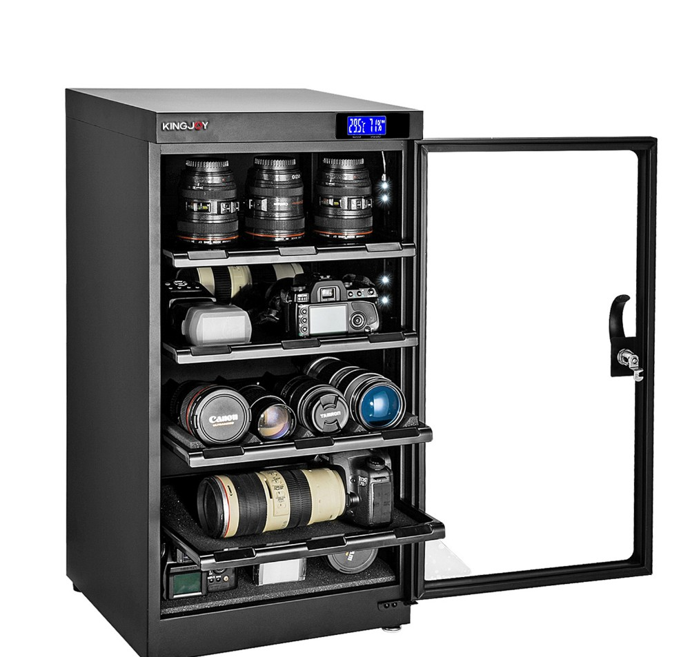 100l Electronic Dry Cabinet With Digital Display Control Kj 100s For Canon Sony Nikon Dslr And Lens Other Camera Accessories Buy Dry Cabinet For