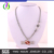 A500318 Yiwu Huilin Jewelry  Mom Letter football Silver Plated colorful Crystal With Lobster Clasp Wheat chain Sport necklace