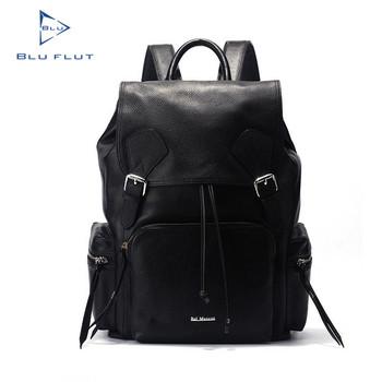88d6092b55 100% Genuine Leather Men Custom Logo Hot Style Korean Style Backpack Brand
