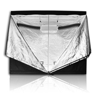 HORTIKING 240x240x200cm Greenhouse Hydroponic Indoor Grow Tent 600d Mylar Fabric 99% Highly Reflective Grow Box