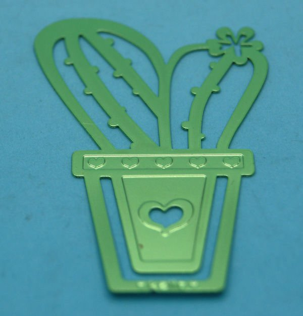 Flor verde do metal christian bookmarks
