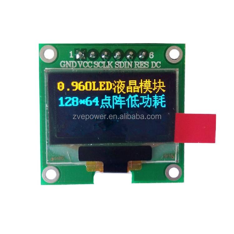 0.96 Inch Oled Lcd Led Display Module 128 * 64 Dot Matrix Yellow ...
