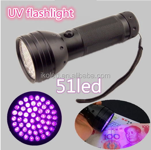 Led Purple Light Scorpion Uv Torch 51 Led Flashlight