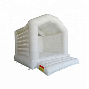 Mini White Inflatable Bouncy Castle For Wedding Kids Indoor Trampoline Bed