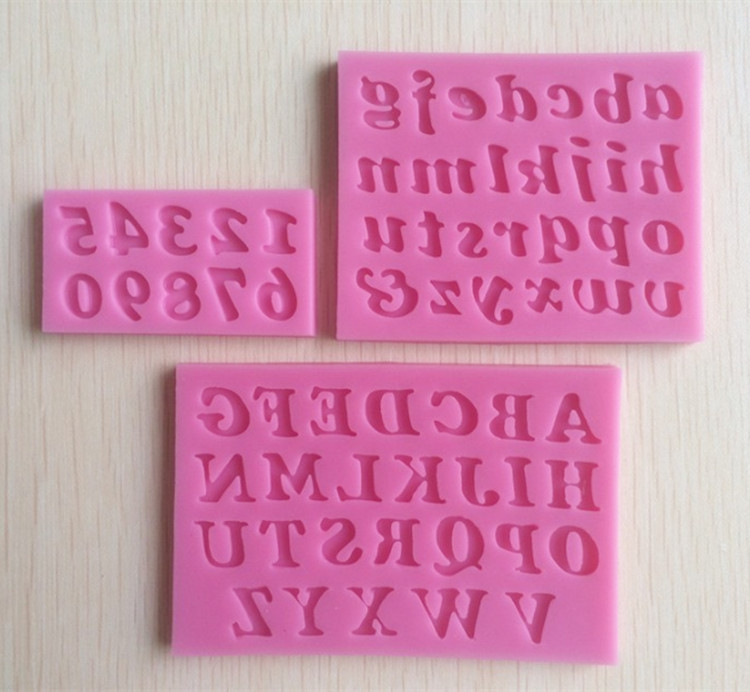 Hot Sale Bpa Free 100% Food Grade Microwave Safe Cake Decorations Letter and Numbers Silicone Mold