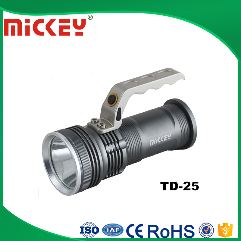 Aluminium Alloy Powerful LED rechargeable flashlight rechargeable torch TD-T25