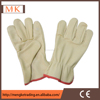 leather working driver safety gloves,factory supplier,pig leather gloves