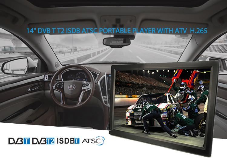 Sıcak satış Taşınabilir Dijital TV 14 Inç TV DTV + ATV Monitör