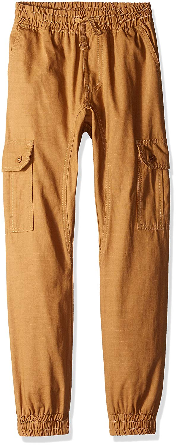 Southpole Big Boys Jogger Pants In Washed Cotton Twill Fabric
