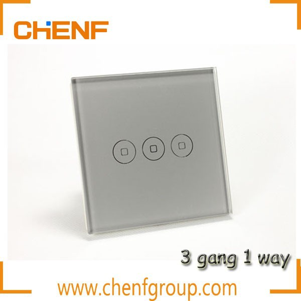 Hot Sell Cheaper Wall Touch Screen 3 gang 1 way Switch