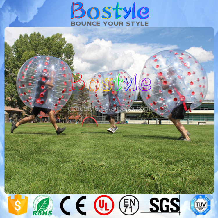 Interesting entertainment game walk in plastic bubble ball inflatable bubble soccer for outdoor activity