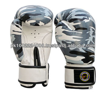 BOXING GLOVES MADE OF FINE QUALITY COWHIDE LEATHER WITH PRINTING FILLED WITH MACHINE MOLD FOAM