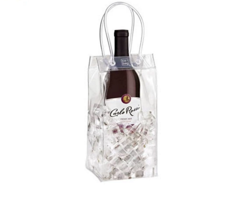 New design wholesale plastic pvc ice cooler wine bottle bag