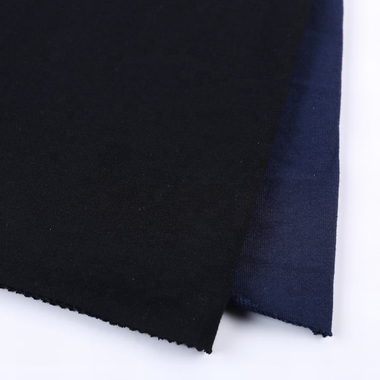 CVC dyed textiles plain french terry knitted egyptian knit cotton fabric