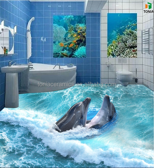 Seaworld Decorate Drawings Dolphin Mural 3d Porcelain