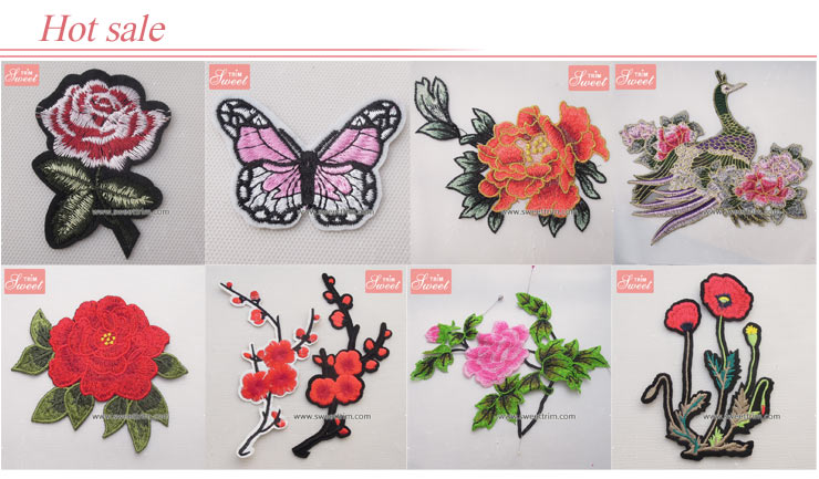 factory wholesale children dress 3D embroidery design label