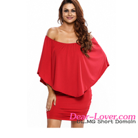 Fashion Dresses Trendy Layered Red Mini Dresses Women Summer Casual 2016