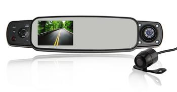 dash cam enregistreur voiture cam ra dvr 3 en 1 r troviseur avant voiture dvr cam ra de. Black Bedroom Furniture Sets. Home Design Ideas