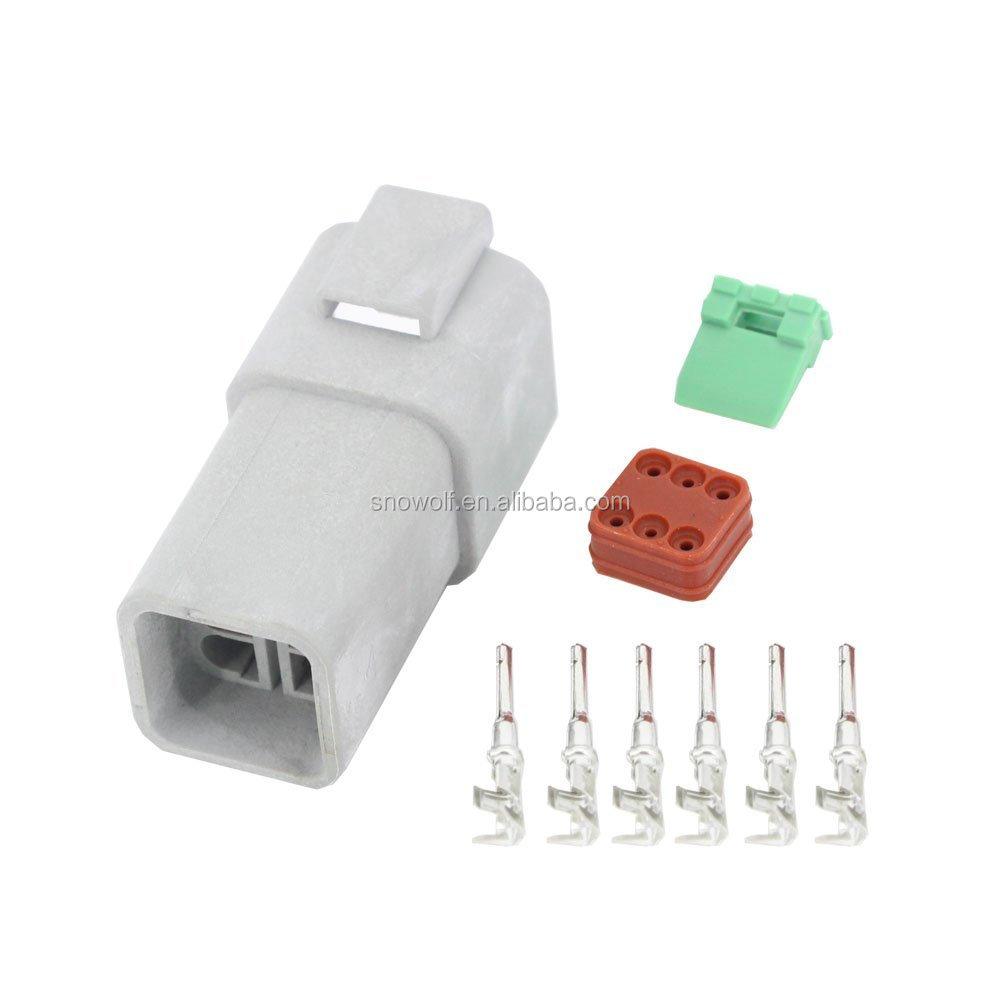 6 Pin Deutsch Connectors Dt04-6p/dt06-6s Automobile Waterproof ...