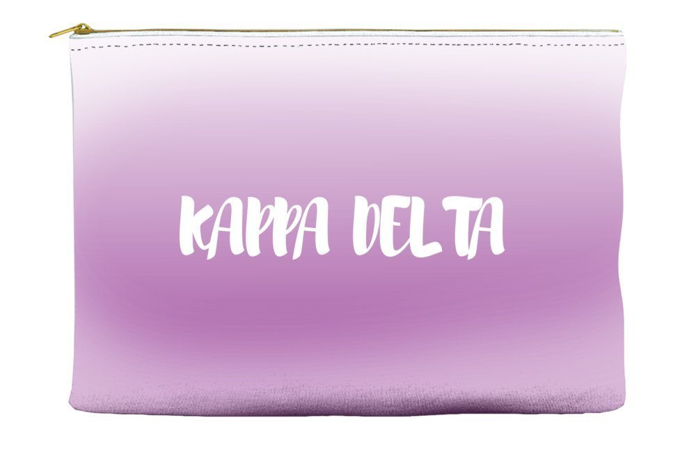 Kappa Delta Ombre Sunset Purple Cosmetic Accessory Pouch Bag for Makeup Jewelry & other Essentials