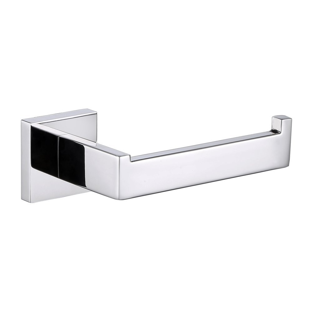 Bathroom Toilet Paper Holder, Angle Simple SUS304 Stainless Steel Bath tissue holder, Open Side Toilet Paper Tissue roll Holder, Modern Toilet Paper Hanger Bar Rod Cabinet Wall Mount, Polished Chrome