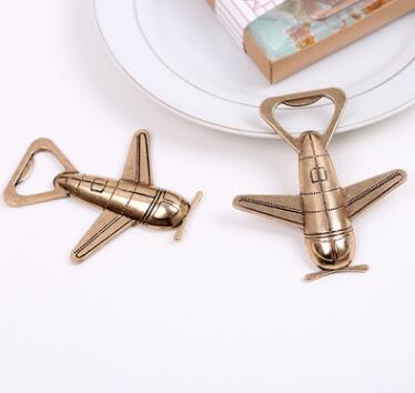 Vintage Airplane Bottle Opener <strong>Wedding</strong> Favors Souvenir Gift For Guests