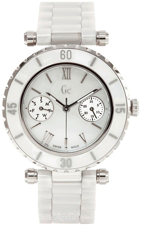 99167540e Buy GUESS Women's GC DIVER CHIC Diamond Dial White Ceramic ...