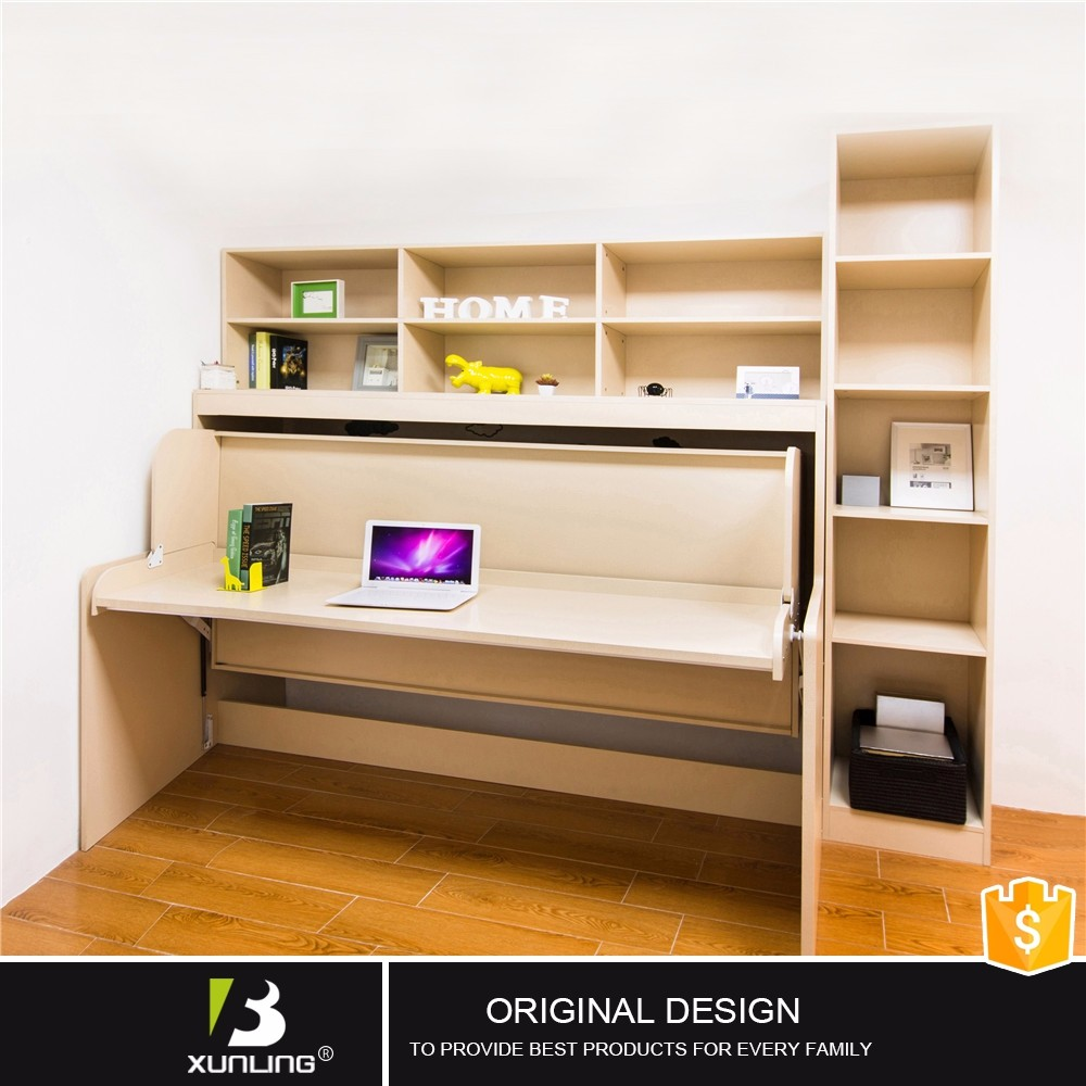 Melamine Bedroom Furniture Modern Hidden Melamine Vertical Wall Bed With Study Table Buy