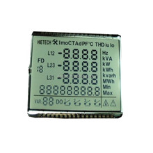 STN POSITIVE SEGMENT THREE phase LCD meter