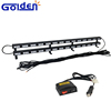 Truck mounted roadway safety traffic advisor led arrow light double layer sticks for sweeping vehilces