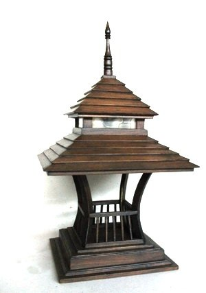 Garden Lamp Wood Sala Thai 2 - Buy Garden Lamp Product on Alibaba.com