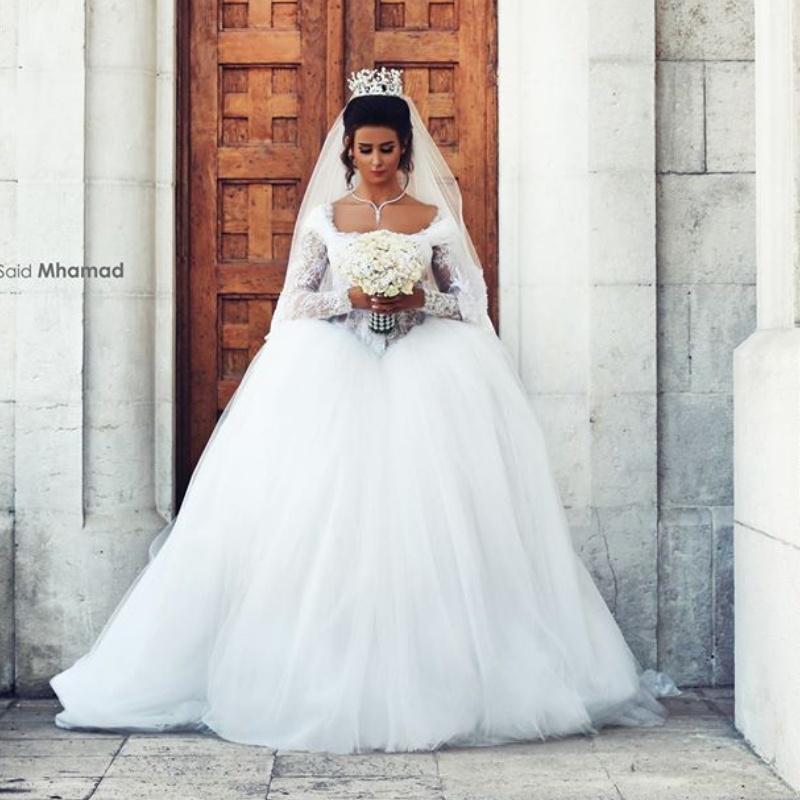 Robes Populaires – Mode Mariee Arabe Et La À 2018 Blanche De Robe 6bvYy7gf