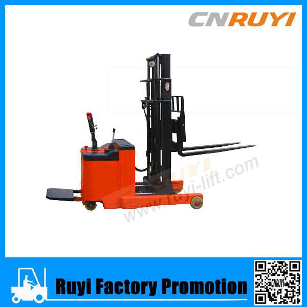 2ton pallet stacker electric reach truck from china forklift manufacturer