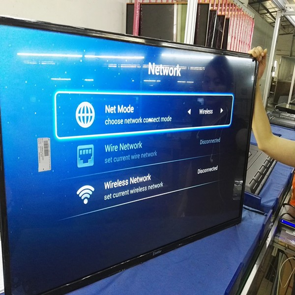 Super slim LED טלוויזיה החכם andriod 55 inch 4 K LED טלוויזיה wifi