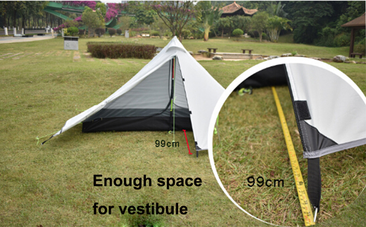 1 Person Tent Backpacking Lightweight Single Tent Waterproof with Double Layer Pyramid Tent & 1 Person Tent Backpacking Lightweight Single Tent Waterproof with ...