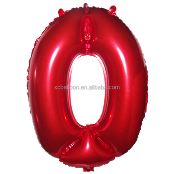Xuancai Cheapest Hot Selling Helium Style Number Foil Balloon