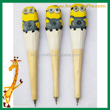 Creative Handmade Carving Animals Wooden Ballpoint Pens Novelty School Office Stationery Items Ball Point Pens Buy Wooden Penball Point