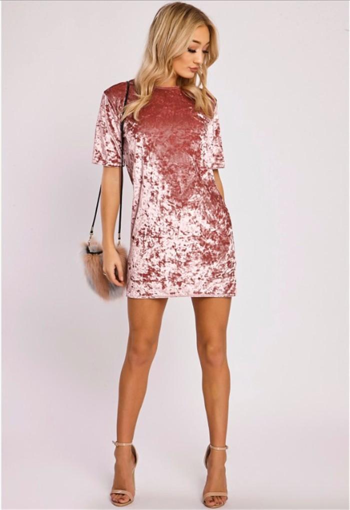 a324cf22a2e Detail Feedback Questions about Autumn Winter New Velvet Basic Dress ...