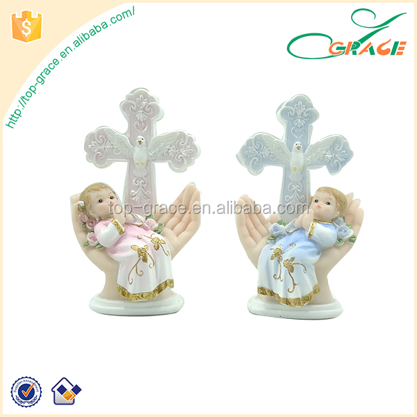 Resin baby 1st communion christening gifts