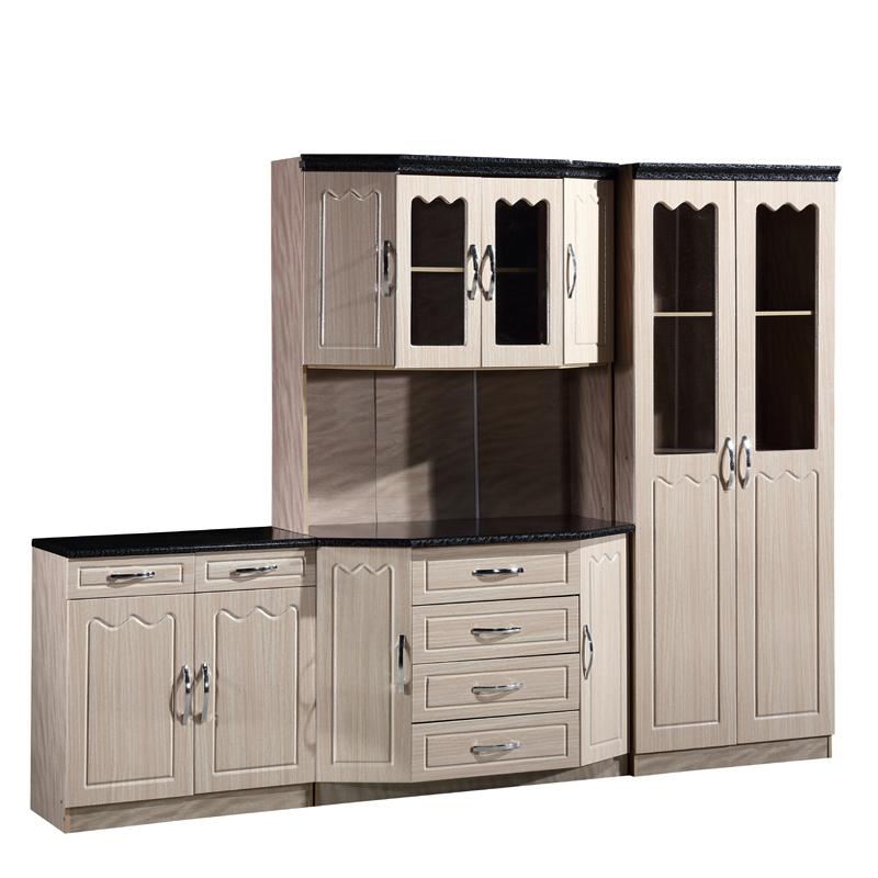 Kitchen Furniture Price: High Quality Pvc Film Mdf Wood Reasonable Price Kitchen