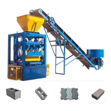 QT4-24 small industry equipment concrete block machine small cement block manufacturing plant