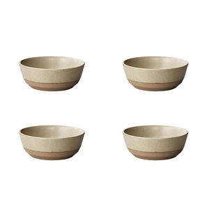 Popular beige porcelain bowl set of 4 home decor and family daily use bowls