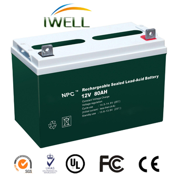 Factory Wholesale Price for 12V 80Ah Electric Car Lead Acid Battery
