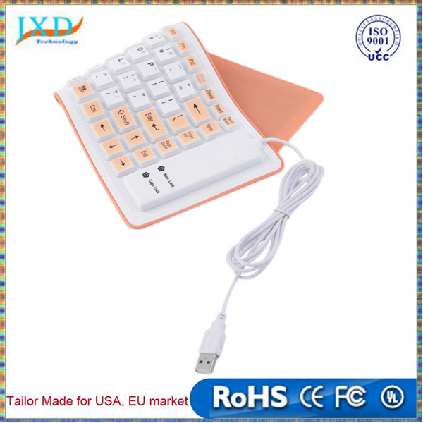 New 88 Keys Portable Waterproof Wired Flexible Soft Silicone USB Keyboard For PC Wholesale