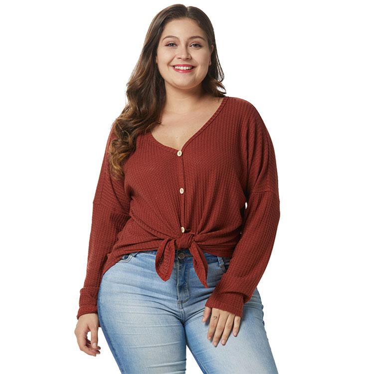 المرأة أزياء عارضة زائد حجم سترة مشغولة من الصوف تنورة معطف كبيرة القمصان التريكو سترة